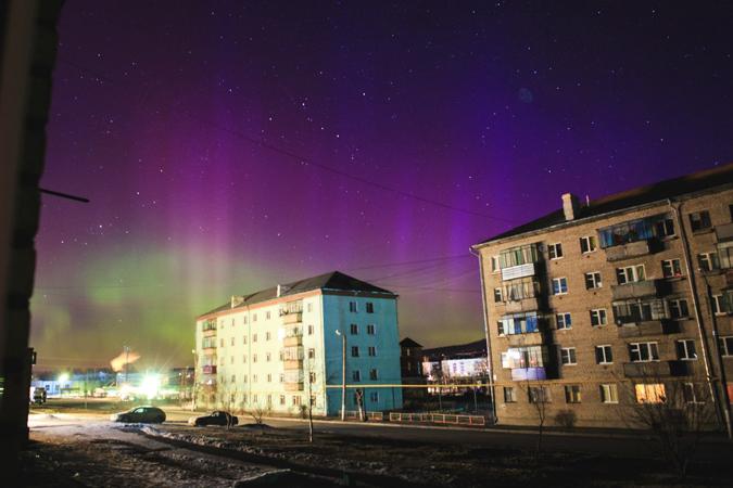 В Башкирии фотографы тоже сняли полярное сияние Фото: Катя Пичугина.