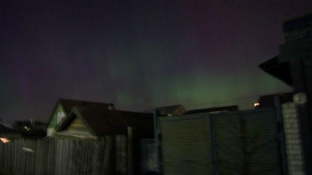 Небо Ульяновской области тоже озарило северное сияние. Фото: Мария Лукьянова