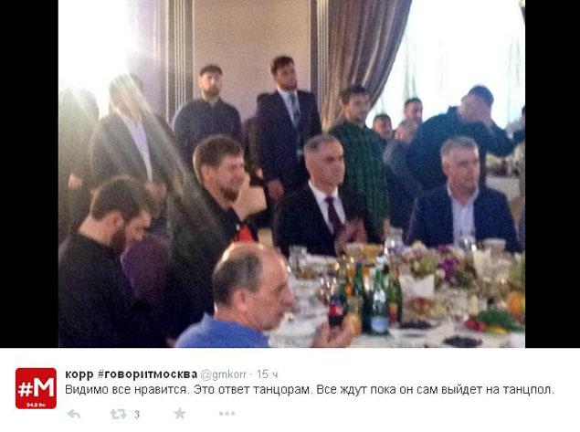 """Глава Чечни: отлично! ФОТО: твиттер-трансляция радиостанции """"Говорит Москва"""""""