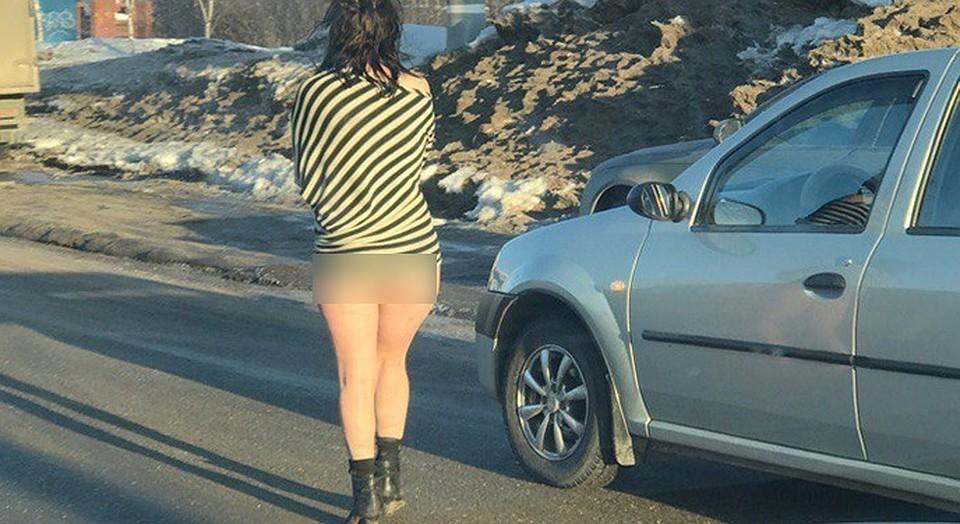 Выебал проститутку на дороге