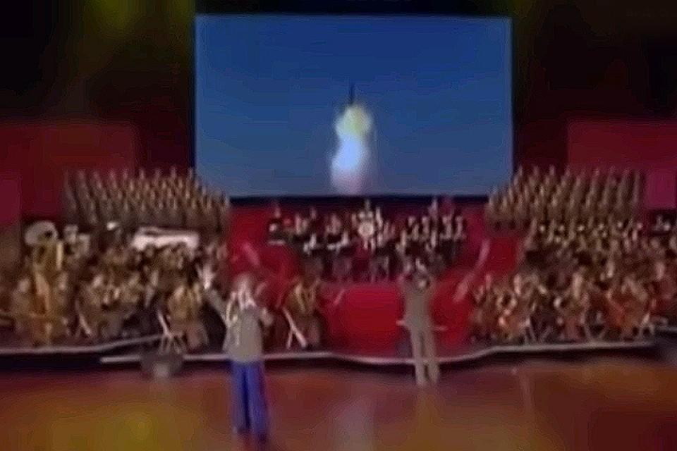 В песне ракета называлась «молнией, бросающей вызов империализму».
