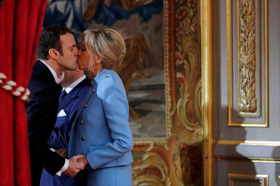 Супруга нового президента Франции Эммануэль Макрона старше его на 24 года