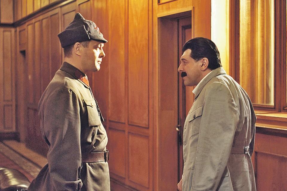 Власика сыграл Константин Милованов, а Сталина - Леван Мсхиладзе. Фото: Первый канал