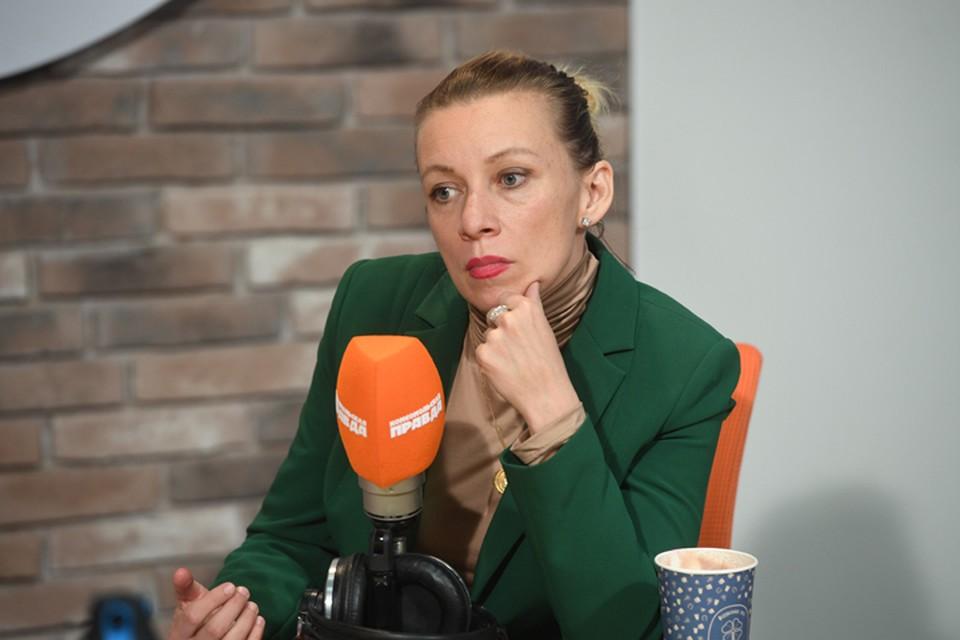 Мария Захарова - в радиостудии «КП».