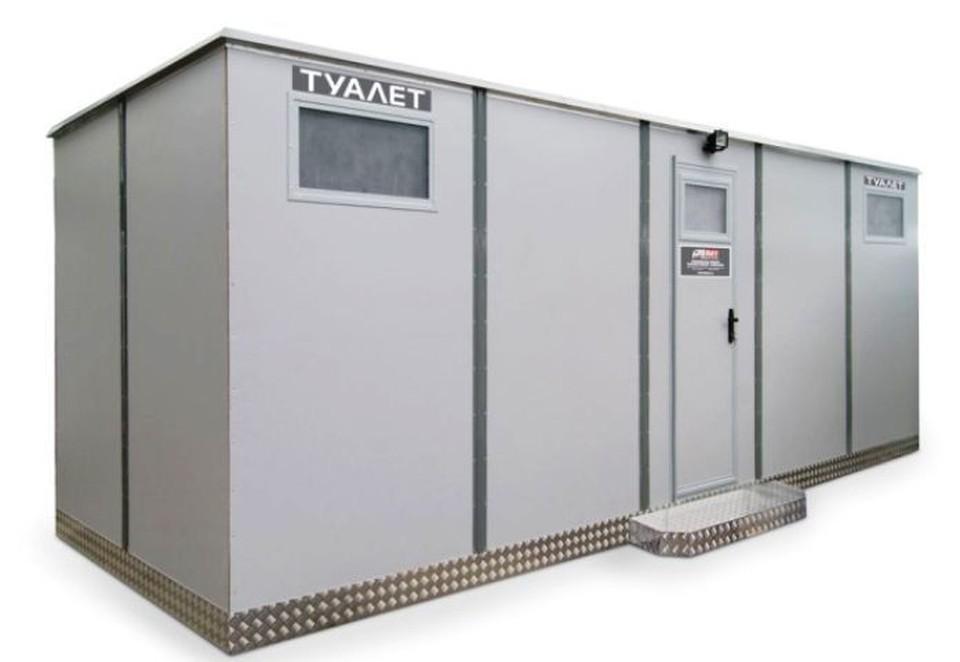 Передвижные туалеты будут нескольких модификаций - на 2, на 4 и на 5 кабинок. Фото из проектной документации с сайта госзакупок.