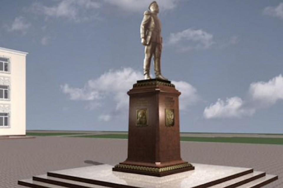 Памятник с ангелом Ленинск-Кузнецкий Цоколь из габбро-диабаза Петушки