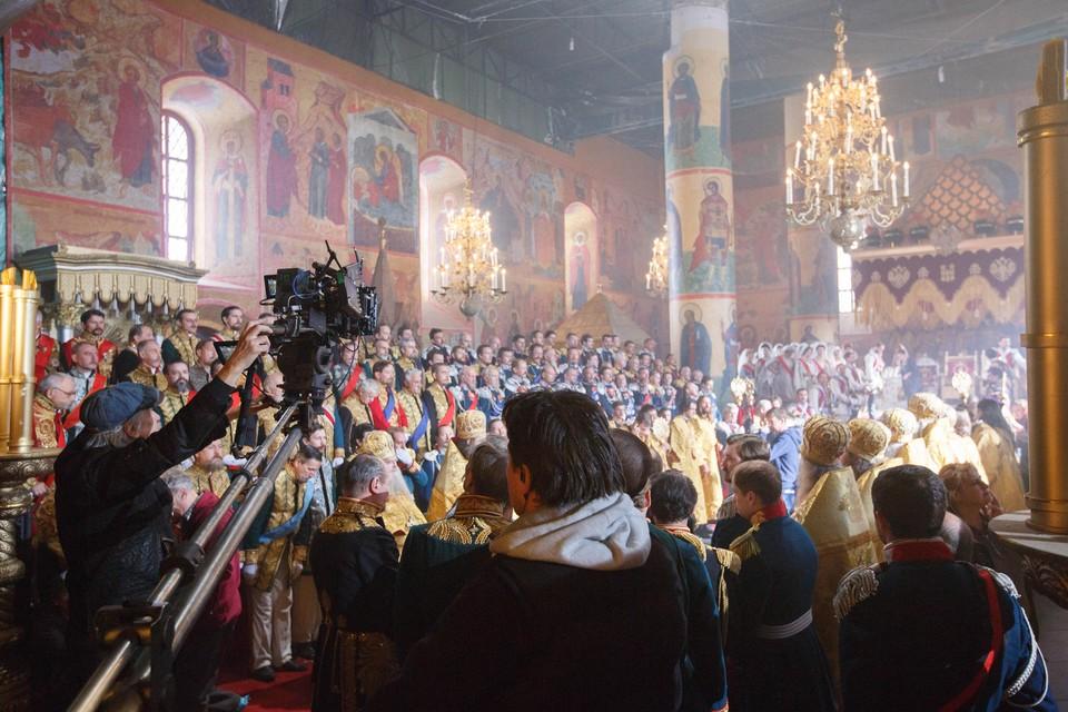 """Съемка эпизода коронации императора Николая II для фильма Алексея Учителя """"Матильда"""""""