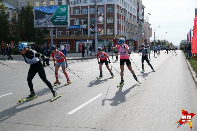 Спортивные мероприятия прошли в центре Барнаула в День города