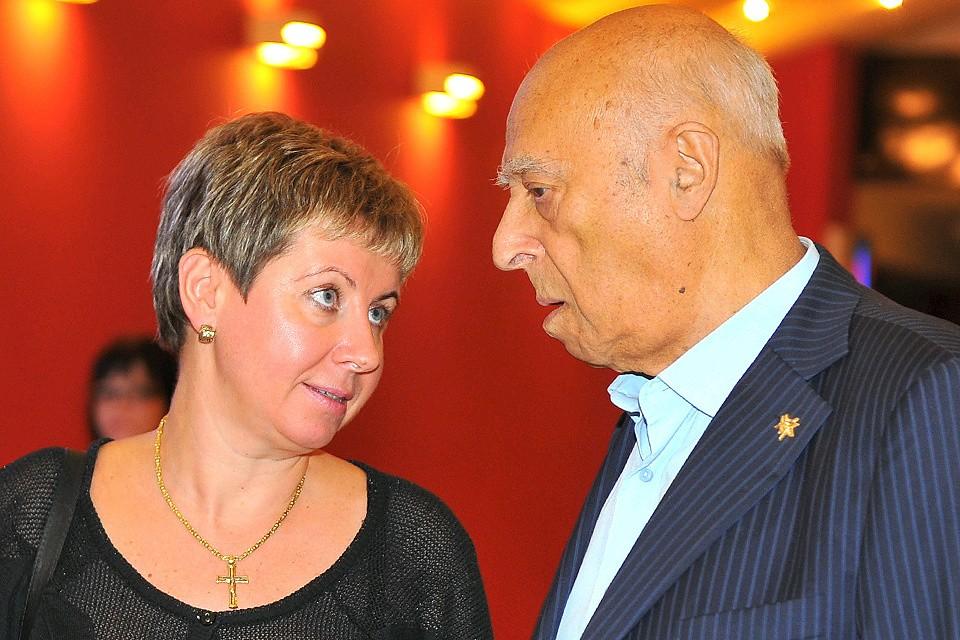 Владимир Этуш с супругой Еленой.