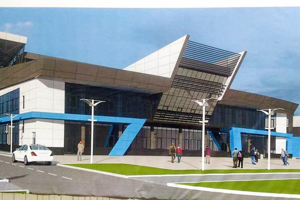 Проект двухэтажного ФОКа. Фото пресс-службы администрации Евпатории.