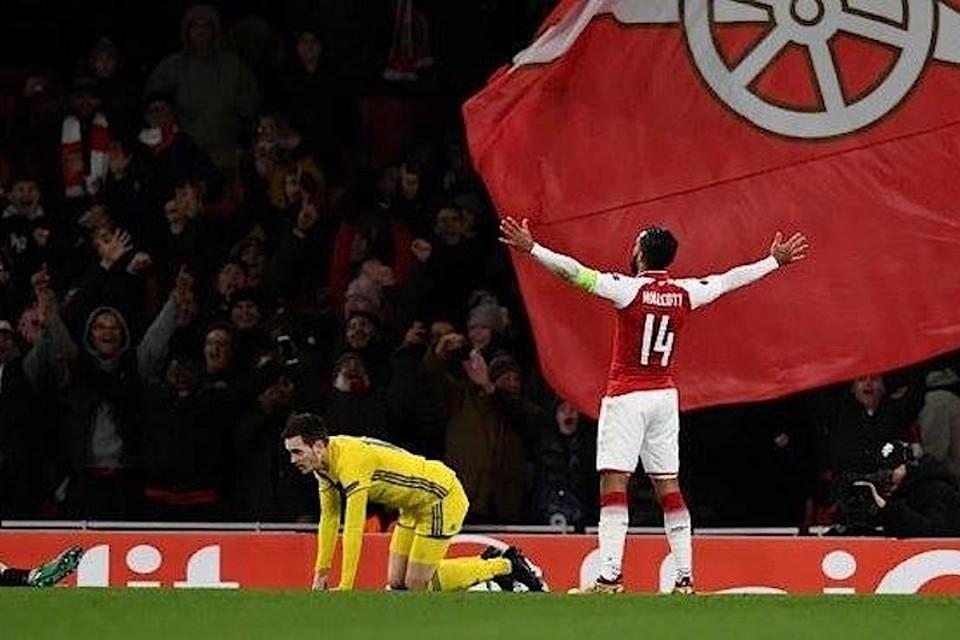 "Даже полуосновной состав ""Арсенала"" легко разгромил БАТЭ. Фото: Reuters"