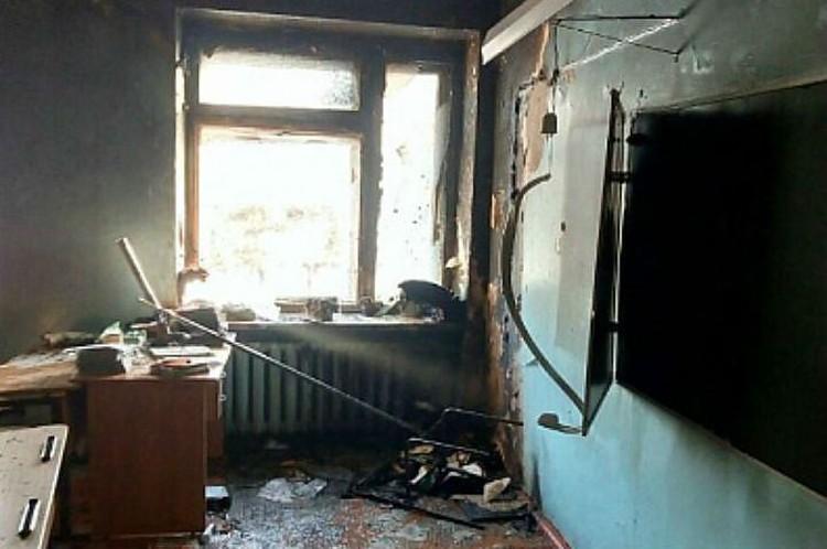 Класс, где произошло нападение Фото: СК РФ