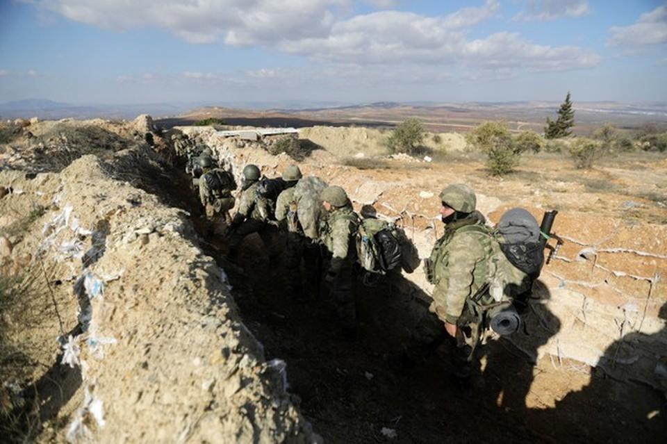 Турецкие военные под Африном