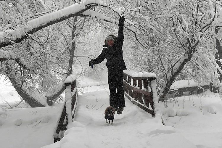 В Москве четвертый день идет снег