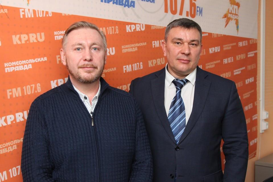 Борис Ломаев - председатель РОО УР «Автомобильная Удмуртия» и Алексей Горбачев - министр транспорта и дорожного хозяйства УР