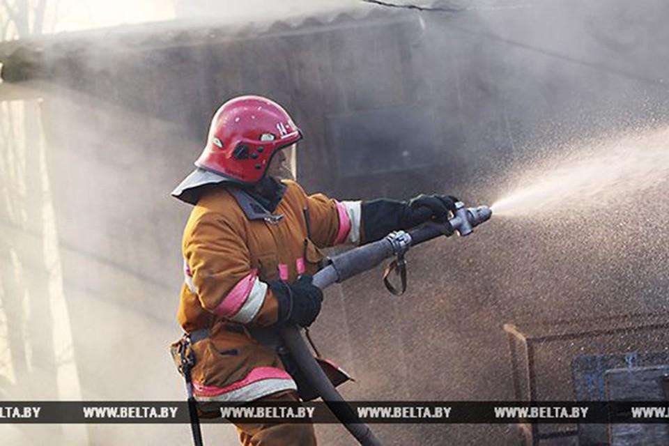 Пожар унес жизни двоих людей. Фото: belta.by