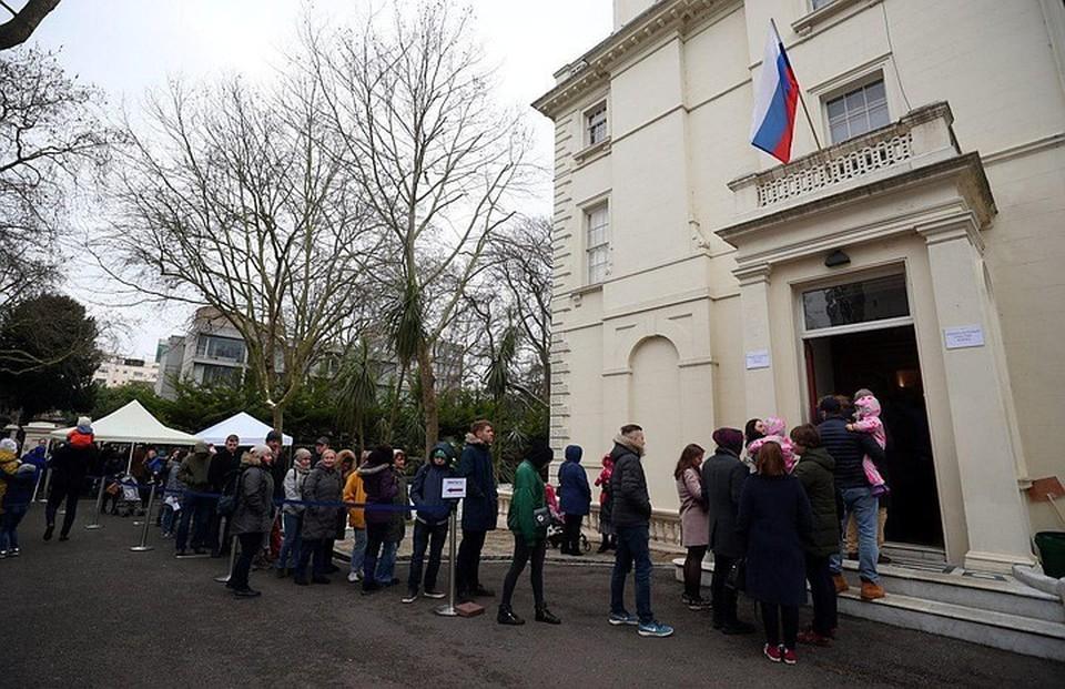 Очередь к избирательному участку в Лондоне