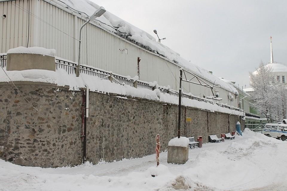Подпорная стена на вокзале
