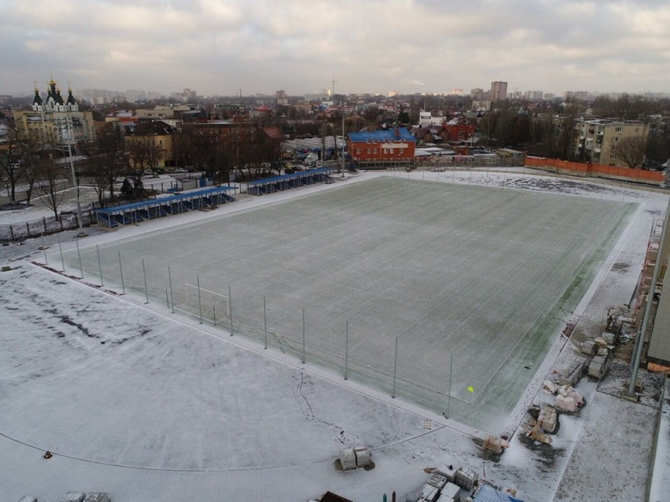 """Работы на стадионе """"Локомотив"""" практически завершены. Фото: пресс-служба мэрии."""