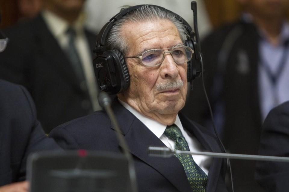 Бывший диктатор Гватемалы Эфраин Риос Монтт