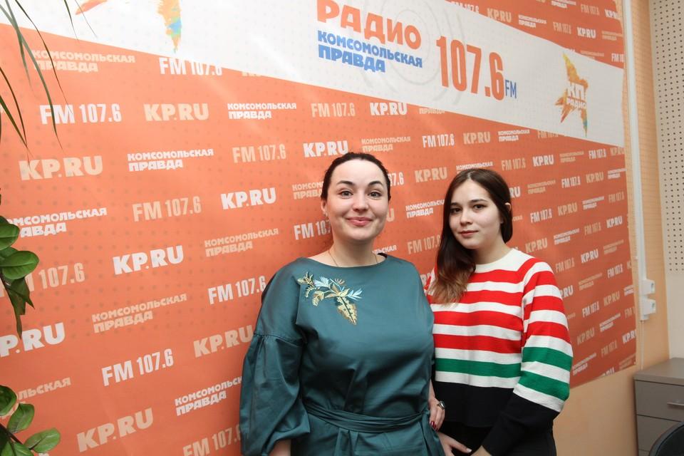 Ведущая Марина Мирлачева и журналист Алина Музафарова