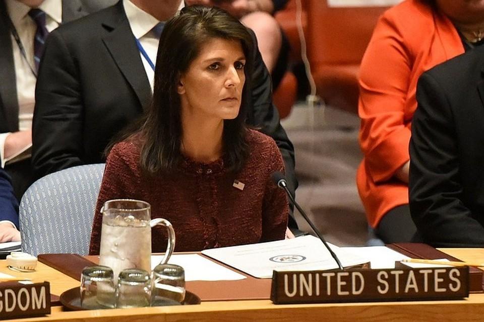 Постпреду США при ООН Никки Хейли