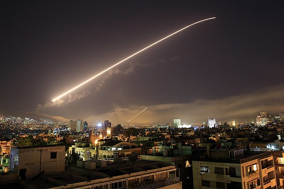 Удар по Дамаску 14 апреля