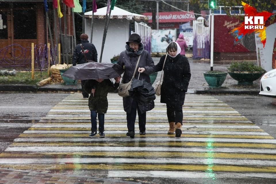 В Кузбассе на выходных пойдет мокрый снег