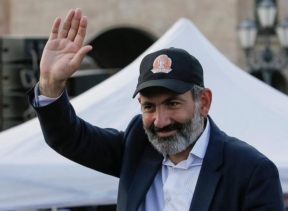 Лидер протестного движения в Армении Никол Пашинян