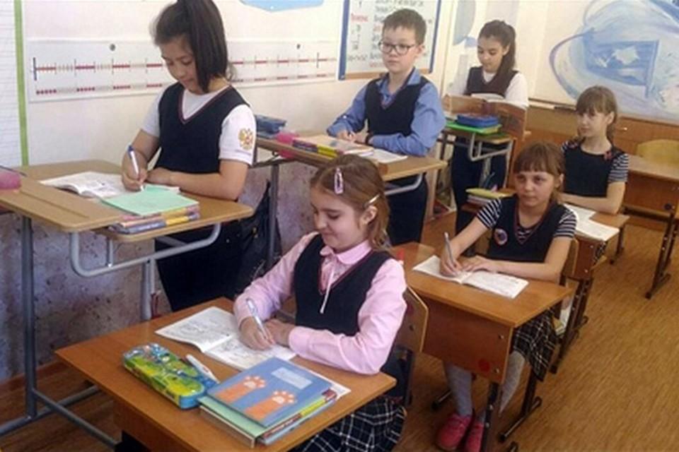 В красноярской школе ученики отказались от стульев. Фото: пресс-служба управления образования Красноярска