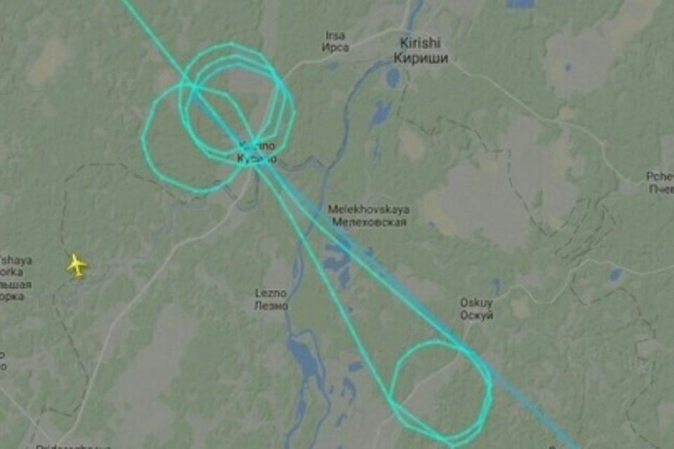 Маршрут рейса DP508. Фото: скриншот сайта Flightradar24
