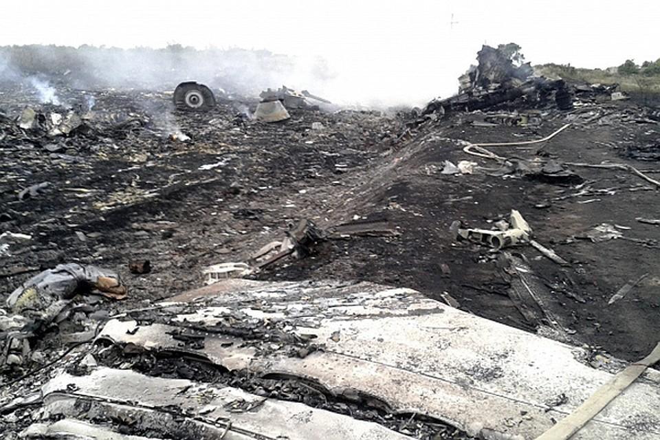 Место крушения малайзийского Boeing