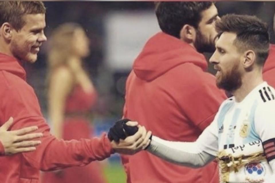 Александр Кокорин поздравил капитана сборной Аргентины Лионеля Месси с днем рождения. Фото: Instagram/@kokorin9