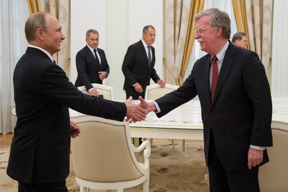 Президент России Владимир Путин принял в Кремле советника Дональда Трампа по нацбезопасности Джона Болтона