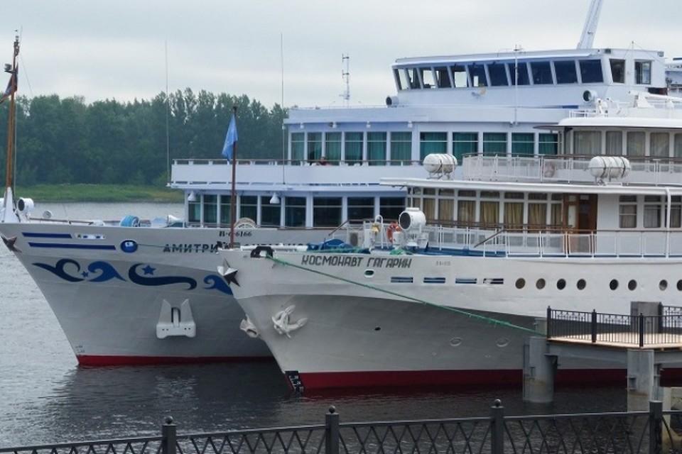 В Рыбинске новый причал принял первые теплоходы