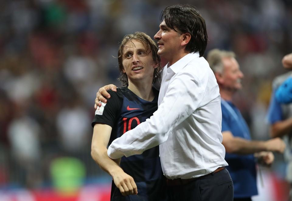 Главный тренер сборной Хорватии Златко Далич и лидер команды Лука Модрич.