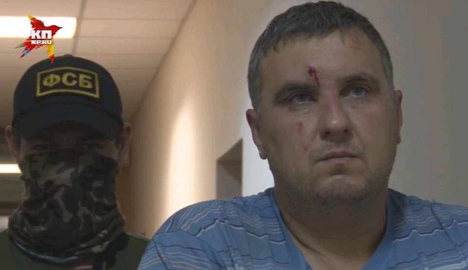 Задержанный украинский диверсант Евгений Панов. Фото: пресс-служба ФСБ