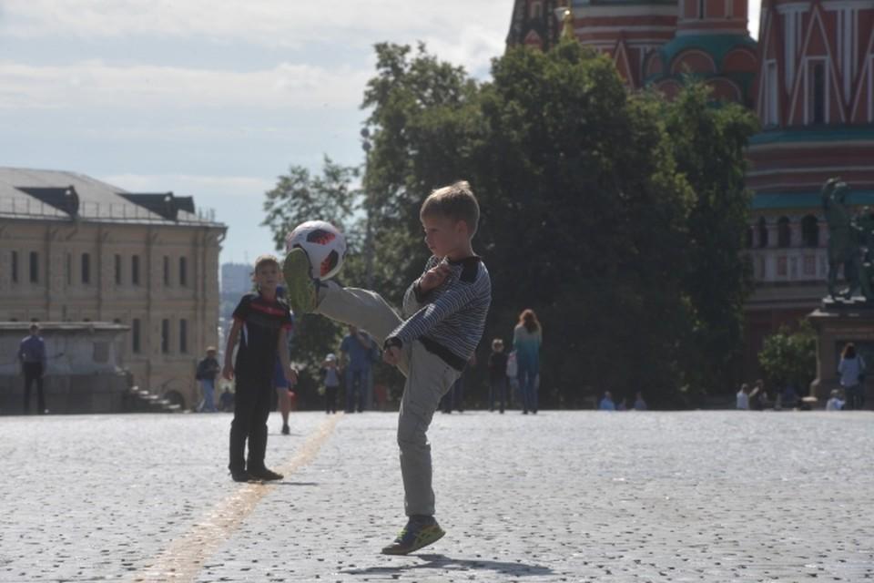 В понедельник, 16 июля, воздух в Москве прогреется до +31 градуса