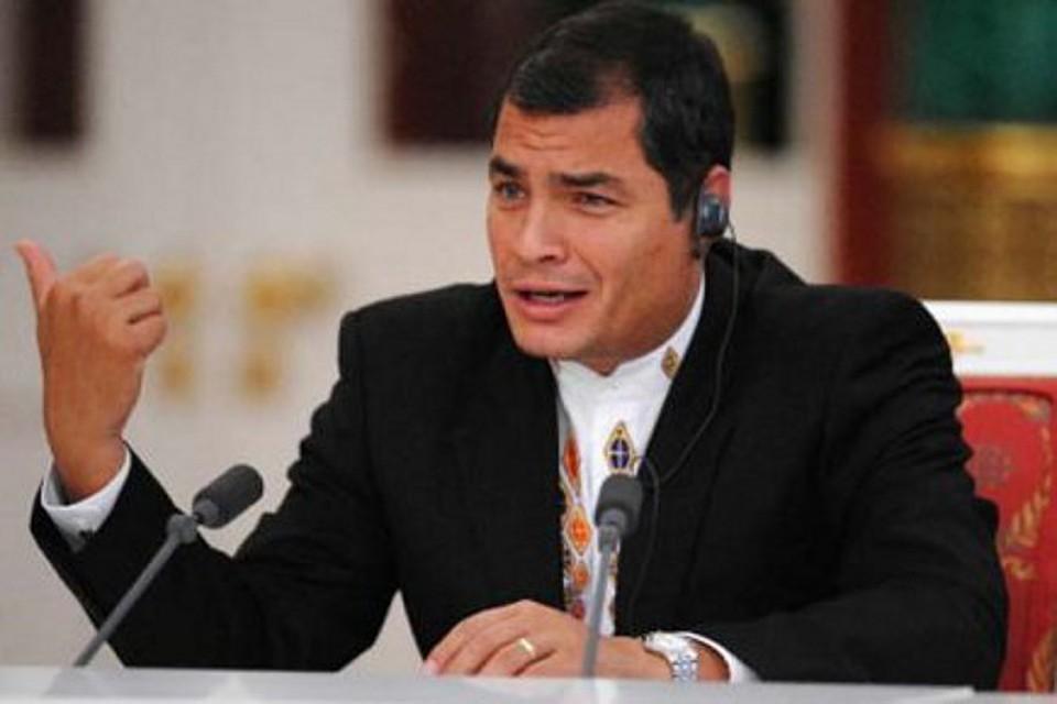 Бывший президент Эквадора Рафаэль Корреа