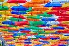 Как в Португалии: В Петербурге открылась «Аллея парящих зонтиков»