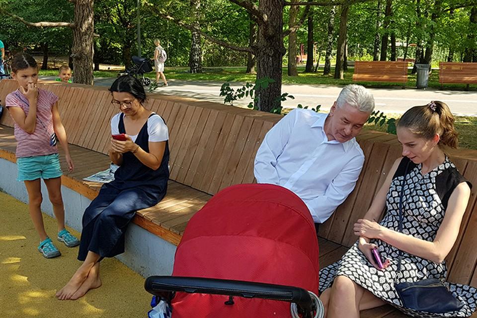 Сергей Собянин пообщался с местными жителями