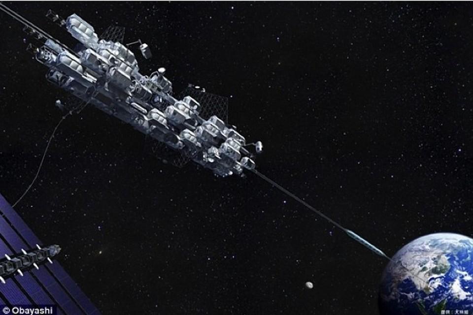 К 2050 году люди будут подниматься на орбиту Земли на лифте.