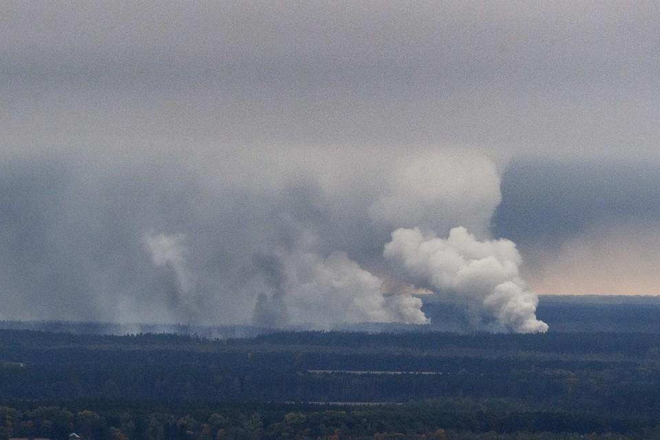 Пожар на военных складах в Черниговской области