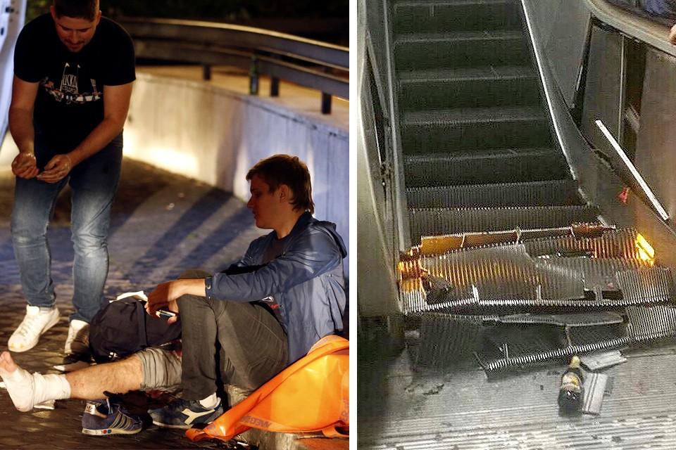 В результате аварии эскалатора пострадали 30 человек, большинство из них - болельщики ЦСКА, приехавшие в Рим.