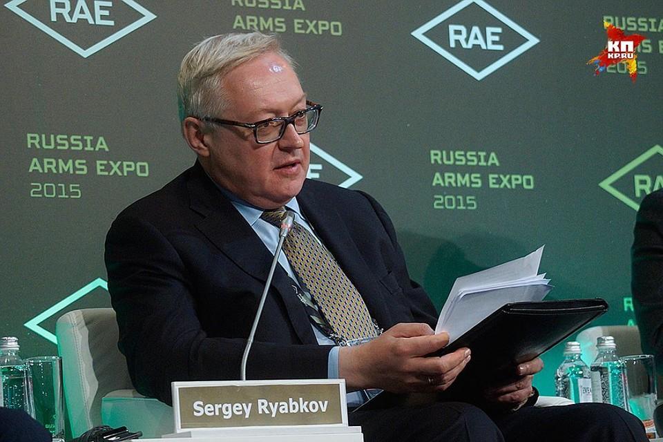 Зам главы МИД РФ Сергей Рябков