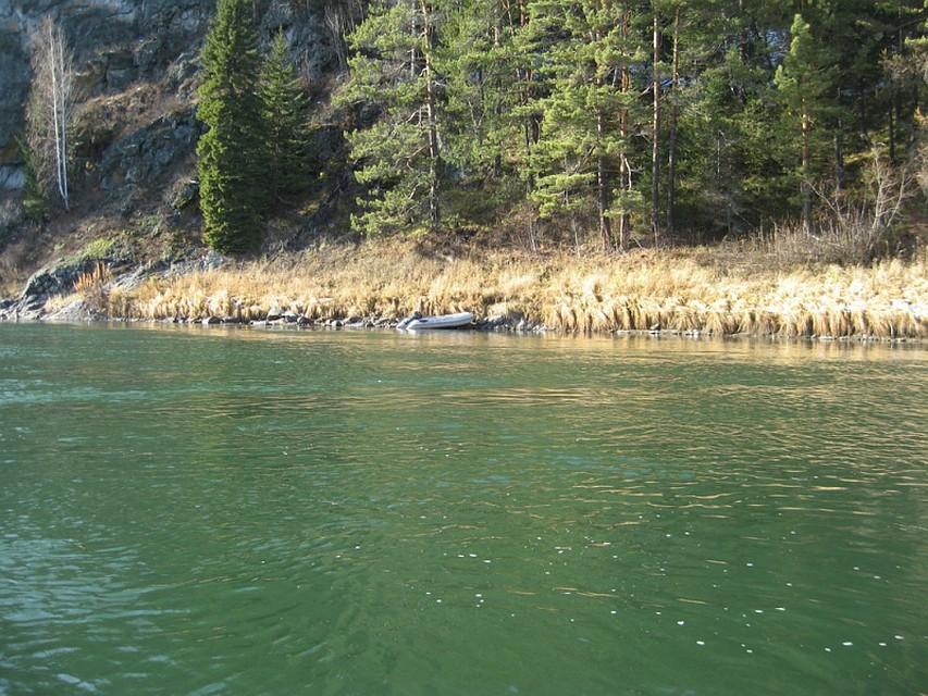 Грибников нашли неподалеку от их лодки Фото: ГУ МВД по Красноярскому краю