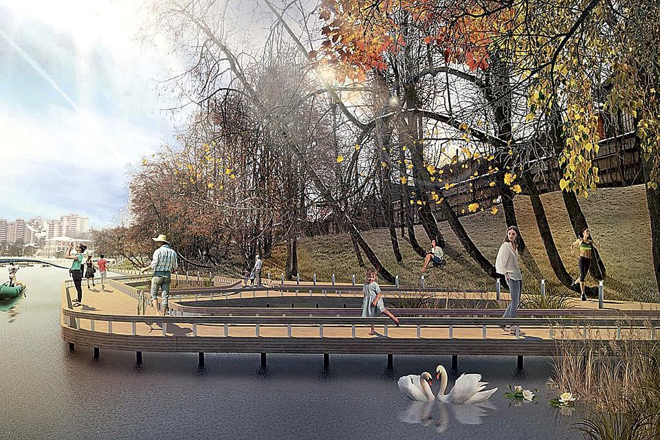 На правом берегу реки Десна появится новая прогулочная зон. ФОТО: благоустройство.рф/rezultaty