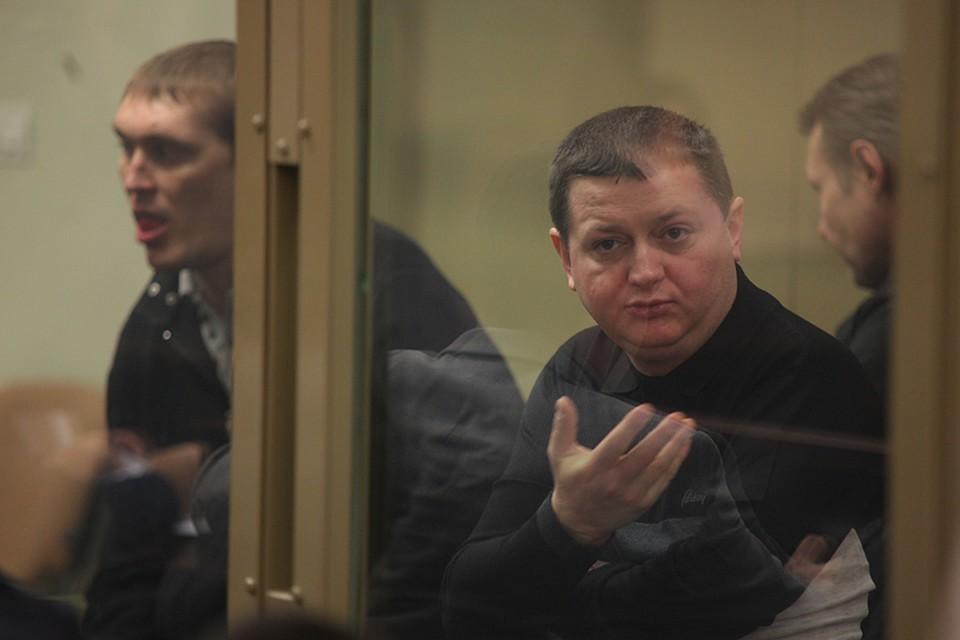 Вячеслав Цеповяз во время суда над членами банды Цапка