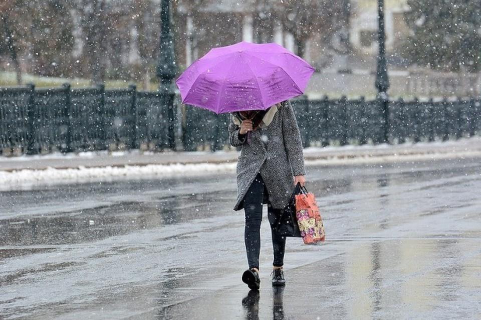 МЧС предупредило москвичей о мокром снеге и гололеде в воскресенье