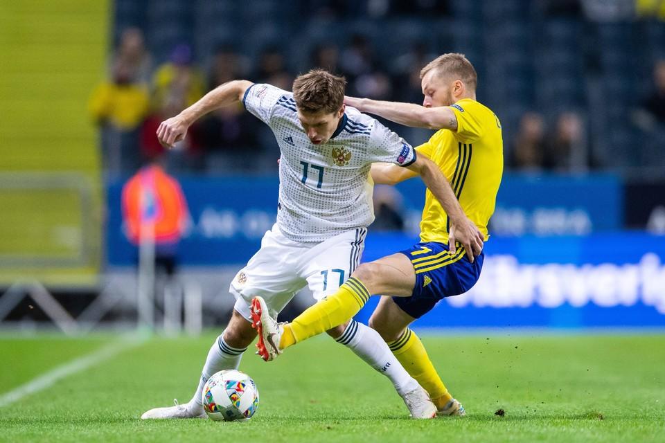Мы пока что проигрываем 0:1 команде Швеции.